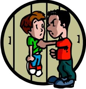 bully and victim on locker